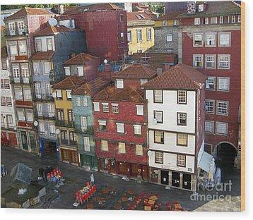 Vibrant Porto Wood Print