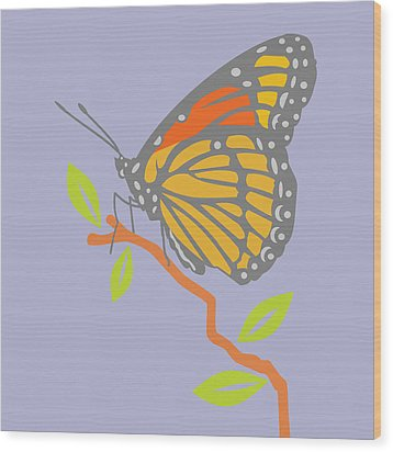 Viceroy Butterfly Wood Print by Mary Ogle
