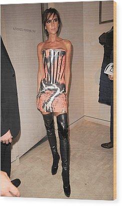 Victoria Beckham Wearing A Giles Dress Wood Print by Everett