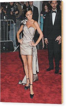 Victoria Beckham Wearing A Marc Jacobs Wood Print by Everett