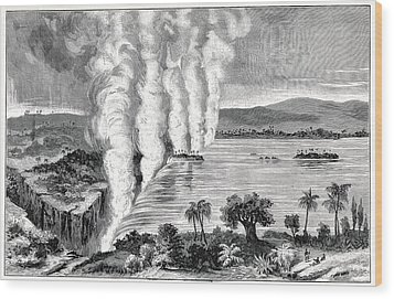 Victoria Falls, 19th Century Wood Print by Cci Archives