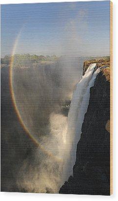 Victoria Falls Wood Print by Christian Heeb