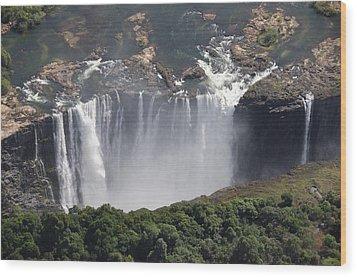 Victoria Falls II Wood Print by Christian Heeb