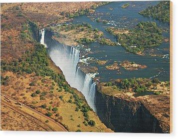 Victoria Falls, Zambia Wood Print by © Pascal Boegli