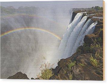 Victoria Falls, Zambia, Africa Wood Print by Yvette Cardozo