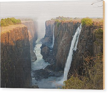 Victoria Falls, Zambia, Southern Africa Wood Print by Peter Adams