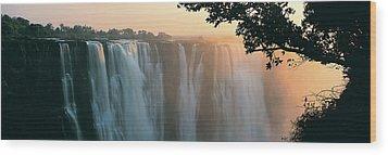 Victoria Falls, Zimbabwe, Africa Wood Print by Jeremy Woodhouse
