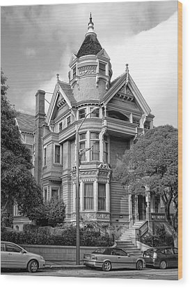 Victorian Haas Lilienthal House In San Francisco Wood Print by Daniel Hagerman