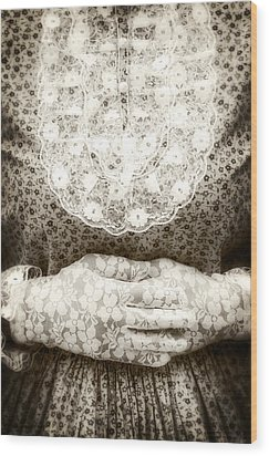 Victorian Hands Wood Print by Joana Kruse