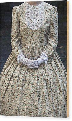 Victorian Lady Wood Print by Joana Kruse