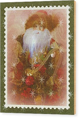Wood Print featuring the photograph Victorian Santa by Michelle Frizzell-Thompson