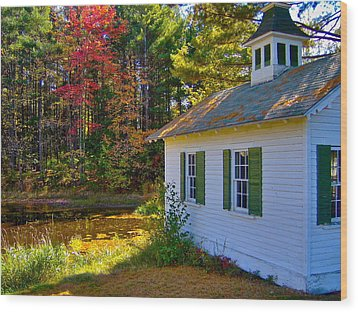Victorian Shed In Fall 5 Wood Print