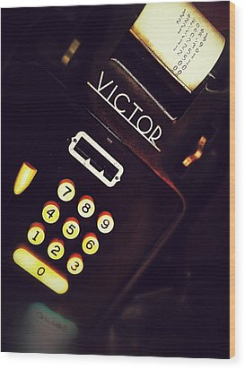 Victor's Accounting Wood Print by Olivier Calas