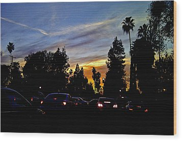 Victory Blvd 4 Wood Print by Russell Jenkins