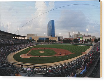 Victory Field Home Of The Indianapolis Indians Wood Print by Rob Banayote