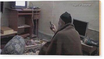 Video Still Of Al Qaedo Terrorist Wood Print by Everett