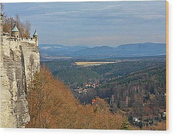 View From Koenigstein Fortress Germany Wood Print by Christine Till