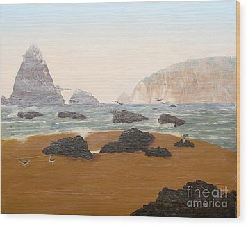 View From Luffenholtz Beach Wood Print