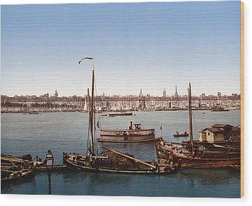 View From The Bastille - Bordeaux - France Ca 1900 Wood Print by International  Images