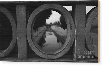 Wood Print featuring the photograph View From The Bridge by Nina Prommer