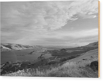 Wood Print featuring the photograph View From The Hill Columbia River by Kathleen Grace