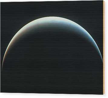 View Of An Eclipse Wood Print by Stockbyte