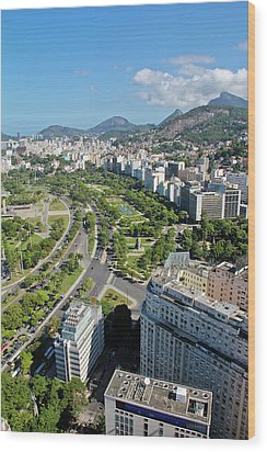View Of Aterro Do Flamengo Wood Print by Ruy Barbosa Pinto