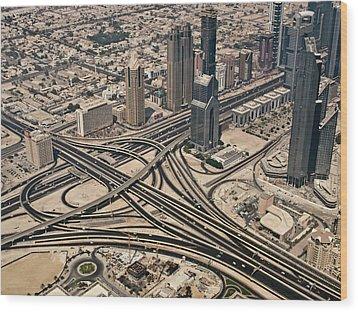 View Of Burj Khalifa Wood Print by Luc V. de Zeeuw
