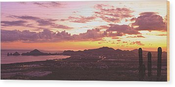 View Of Cabo San Lucas And Tip Of Baja Wood Print by Stuart Westmorland