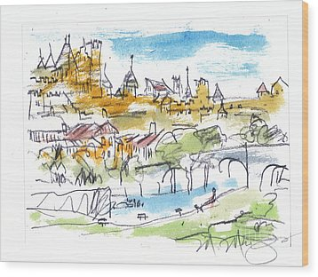 View Of Carcassone France Wood Print