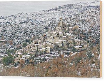 View Of Eus Wood Print by Ángeles Antolín