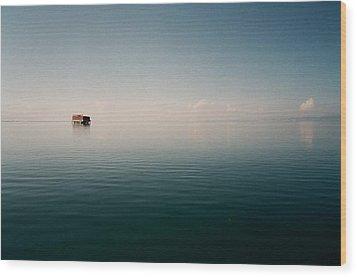 View Of Lake Qinghai Wood Print by Dsa