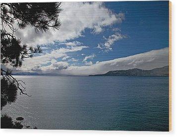 View Of Lake Tahoe Wood Print