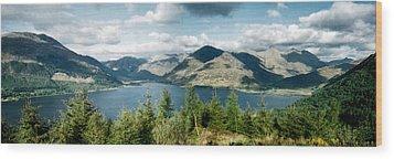 View Of Loch Alsh Wood Print