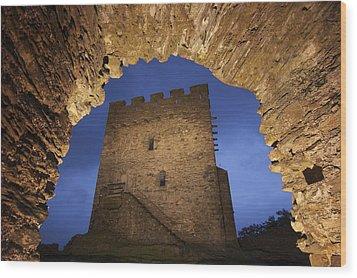 View Of Medieval Dolwyddelan Castle Wood Print by Jim Richardson
