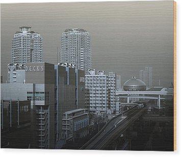 View Of Modern Tokyo Wood Print by Naxart Studio