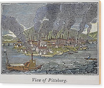 View Of Pittsburgh, 1836 Wood Print by Granger