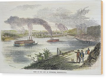 View Of Pittsburgh, 1853 Wood Print by Granger