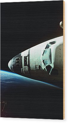 View Of The Nose Of Space Shuttle Wood Print by Stockbyte