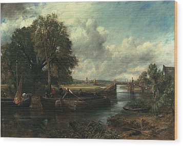 View Of The Stour Near Dedham Wood Print by John Constable