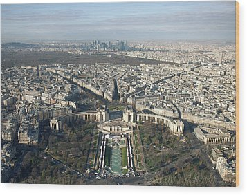 View Over Trocadero From Eiffel Tower. Paris Wood Print by Nico De Pasquale Photography