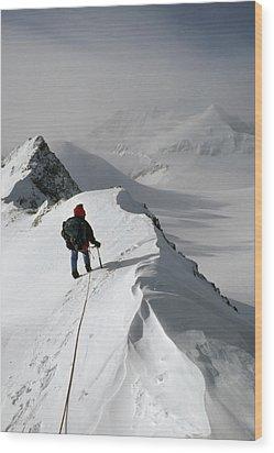 Viewing Mt.shinn From The Vinson Wood Print by Gordon Wiltsie