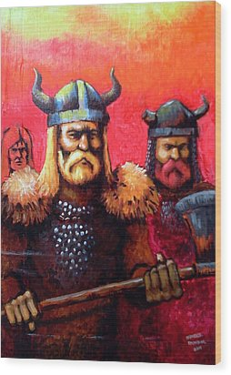 Vikings Wood Print by Edzel marvez Rendal