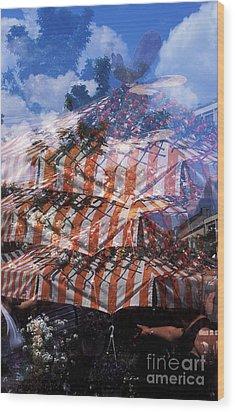 Viktualienmarkt Wood Print by Angela Bruno