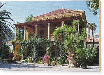 Villa Lafabreque Prades France Wood Print by Marilyn Dunlap