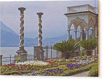 Villa Monastero - Varenna - Lago Di Como Wood Print by Joana Kruse