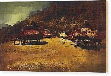 Village In Northern Burma Wood Print