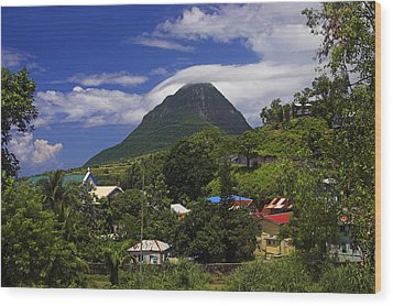 Wood Print featuring the photograph Village Of Choiseul- St Lucia by Chester Williams