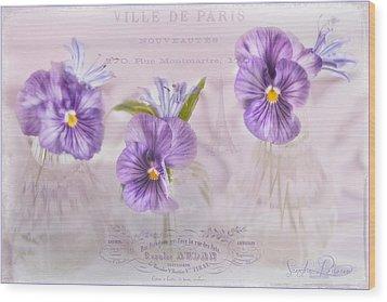 Ville De Paris Wood Print by Sandra Rossouw