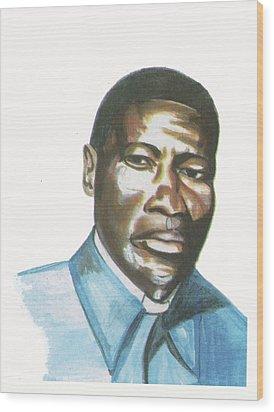 Vincent Mulago Wood Print by Emmanuel Baliyanga
